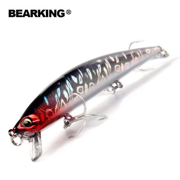 BearKing Retail A+ fishing lures 2016 Hot-selling 140mm/18g, slim size minnow crank popper penceil bait good qualityY1883010
