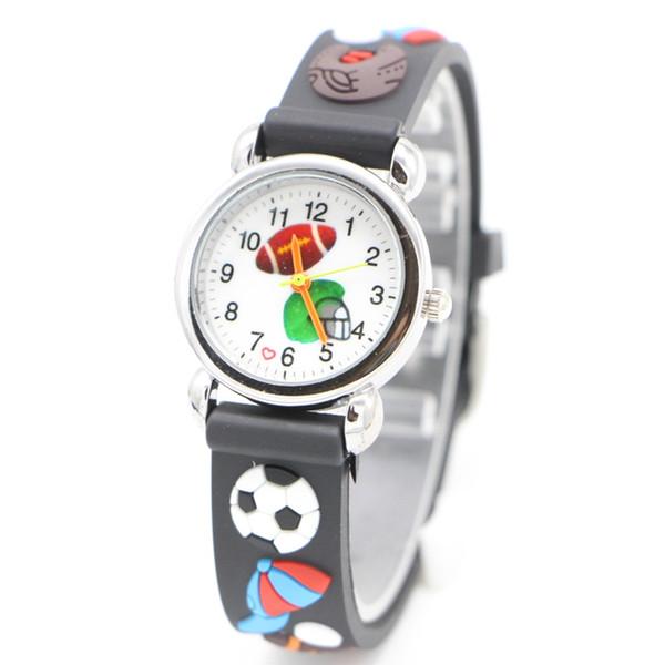 New Ball class football design Children kids Watches Boys Rubber Environmental protection Casual High Quatily watch Relojes