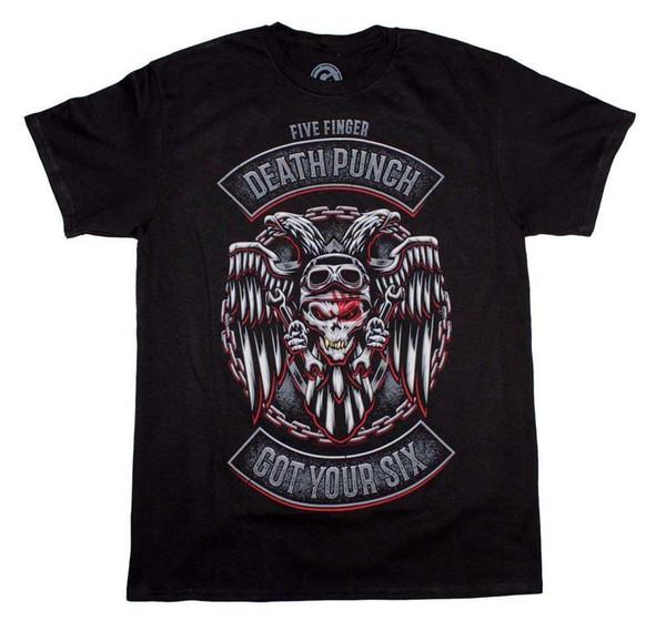 Fünf Finger Death Punch haben Ihre sechs Logo T-Shirt verschiedene Farben hohe Qualität 100%