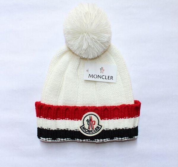New Luxury Pom Poms Knit Warm Cap Fashion Man Women Brand Designer Wool Beanies Best Quality Soft Warm Hat Beanie Skull Cap Hop Slouchy Cap