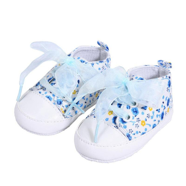 Soft Canvas Princess Sneakers Floral Printed Net Baby Shoes Antislip Infant Children Toddler Walkers Shoes baby girl spring shoe