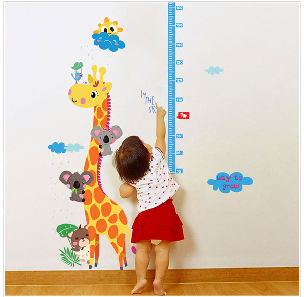 Girraffe Grow Chart Wall Stickers Wallpaper Wall Picture Art Vintage Room Home Decor Kitchen Accessories Household Crafts Suppllies