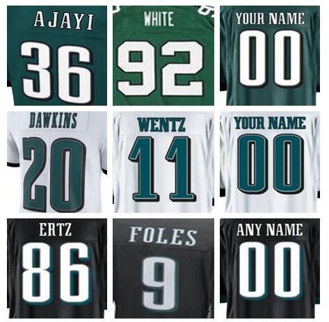 reputable site 71ac7 984b6 2019 Philadelphia Carson Wentz Eagles Jersey Brian Dawkins Alshon Jeffery  Fletcher Cox Sidney Jones Reggie White American Football Jerseys Shirts  From ...