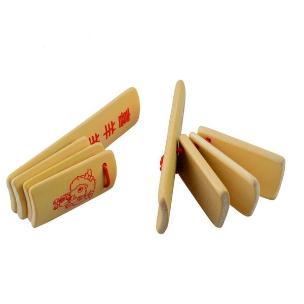 Free shipping student Creativity Bamboo 4 tablets Children allegro Play house crosstalk Bamboo clapper Nostalgic toys
