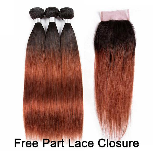 1B/33 4x4 Free Part Lace Closure