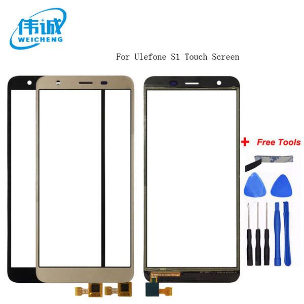 WEICHENG Qualidade Superior Para Ulefone S1 Touch Screen Sensor de Lente Touch Panel Substituição Acessórios Móveis + Ferramentas