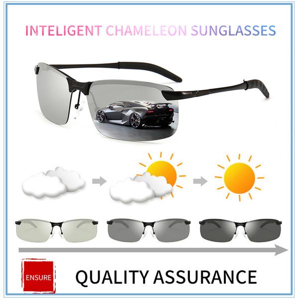 70851c95a22b2 2017 nova Condução Photochromic Óculos De Sol Dos Homens Polarizados  Camaleão Descoloração óculos de Sol para