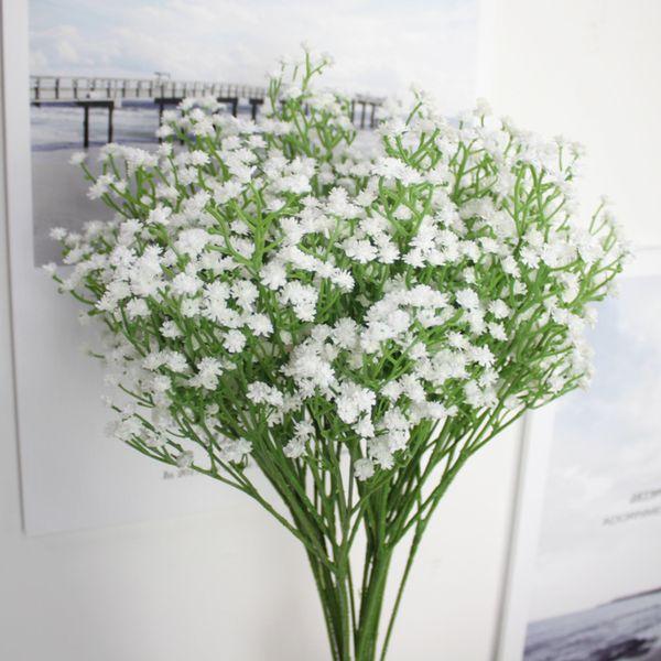 1pc Value Fake Bouquet Baby's Breath Gypsophila Silk Flower Party Wedding Home Decor Head White Artificial Flowers Gypsophila Floral