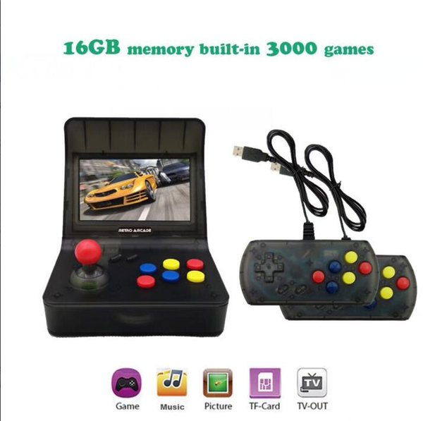HDMI Retro-Arcade 3000 IN 1 Game BOX Console Handheld GAME PAD with retail box 4.3inch Sceen 16GB MUSIC GAME BOX TF CARD Support