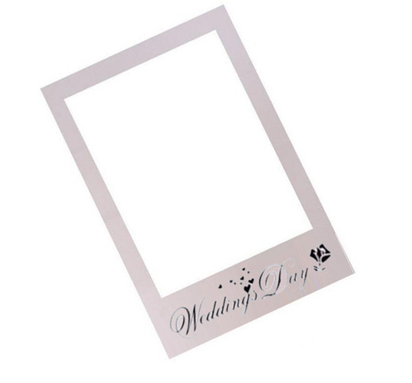 Frame Photo Booth Props Photography mask paper Card Wedding/birthday/Team bride Party Decoration gift white wedding day