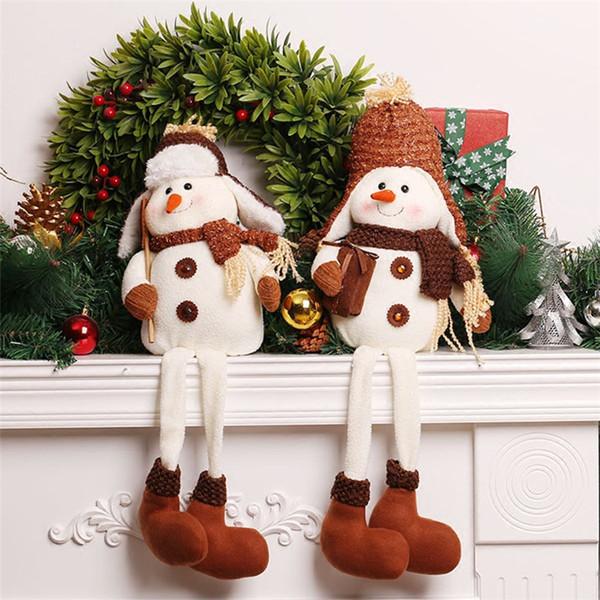 adornos para la casa Christmas Dolls Shop Window Sitting Toys Decoration Christmas Tree Ornament Natal Adornos De Navidad Para Casa New Year Gift Decorative Items For