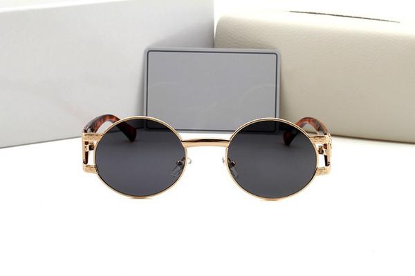 2018, new products ladies' sunglasses luxury brand designer sexy retro round sunglasses, sexy female color is UV400.