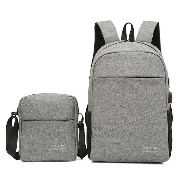 2PCS/Set Men Women Travel Nylon Waterproof Backpack Male Multi-function Laptop Bag Book Outdoor Sports Shoulder Bag Hunting Bags