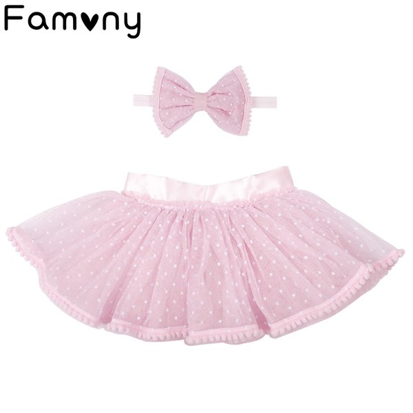 Gorgeous Baby Events Party Wear Tutu Tulle Infant Christening Gowns Children's Princess Skirt For Baby Party Hair Accessories
