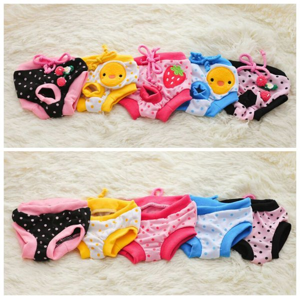 Floral Sanitary Dog Shorts Pet Dog Panty Female Puppy Shorts Pant Diaper Cute Underwear