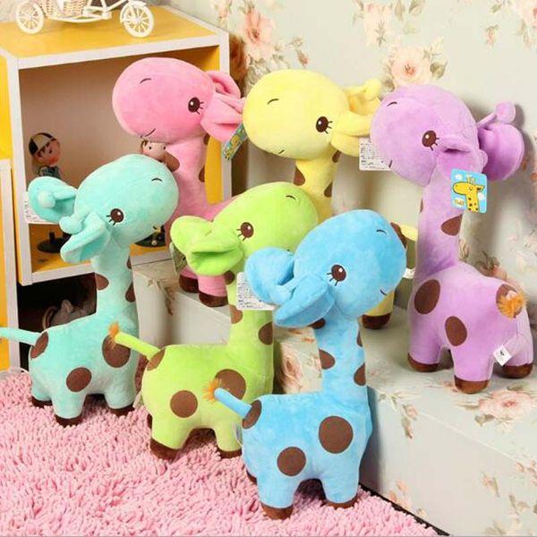 Lovely Giraffe Soft Plush Toy Animal Dear Doll Baby Kid Children Birthday Gift Deer Pillow Free Shipping