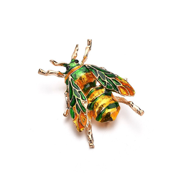 Dripping oil painted bees brooches