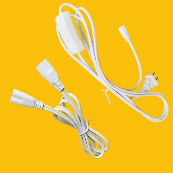 4ft US Plug 3 Prong AC Power Cord Cable 6ft Double End Connector Cable for T5 T8 LED Integrated LED Tube (Power Cord)