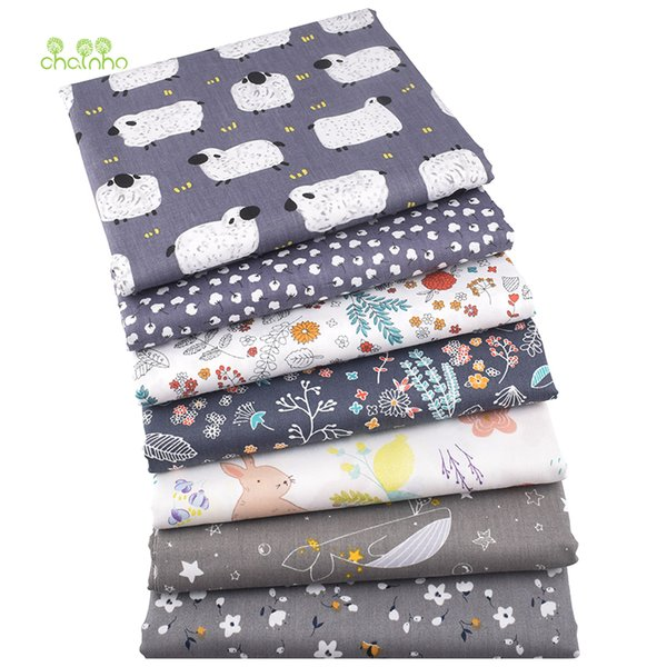 Chainho,7pcs/lot,World In Dreams Series,Printed Twill Cotton Fabric,Patchwork Cloth,DIY Sewing Quilting Material For Baby&Child