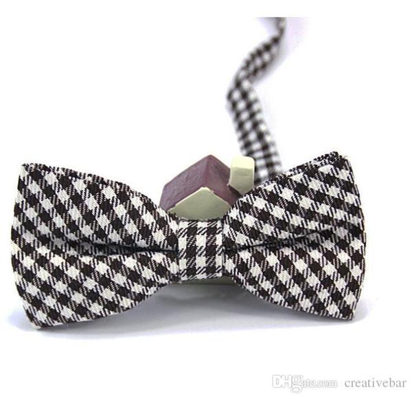 Cravatta per bambini in cotone stile britannico Cravatta per bambini Moda per bambini Cravatta carina in puro colore per bambini caldi Cravatta in cotone regolabile