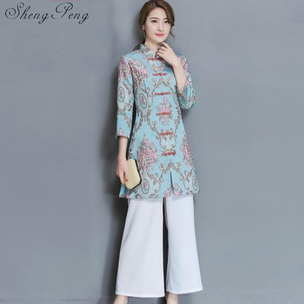 fa3f79e57c3b 2018 new ao dai lace qipao chinese women's clothing long sleeve cheongsam  dress floral qipao for