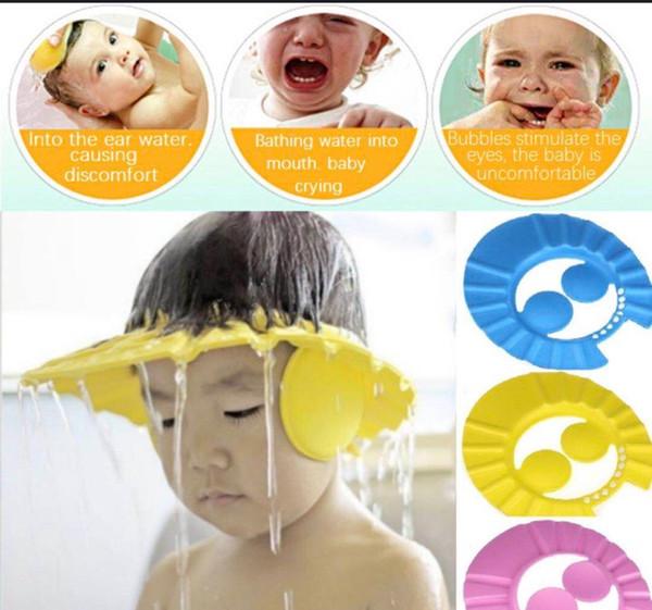 Çocuk su geçirmez şampuan kapağı Bebek duş başlığı Bebek şampuanı kapağı Çocuk saç yıkamak kolay