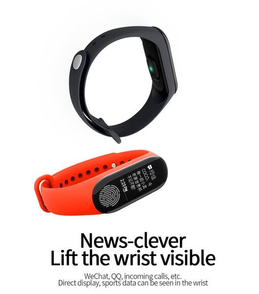 The third age FingerPrint M3 Bluetooth Smart Bracelet Whether Display Blood pressure Blood Oxygen Heart Rate Test sport Pedometer
