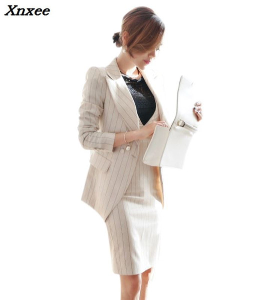 Vestido de dama de oficina trajes para mujer chaqueta + vestidos de funda de moda conjunto de dos piezas trajes de negocios ropa de trabajo conjuntos de abrigo blazer