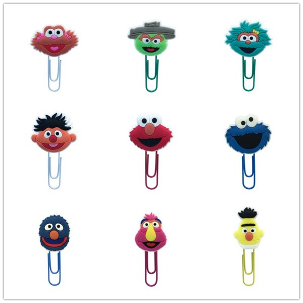 18Pcs Paper Clip Sesame Street Souvenir Book Decor Bookmark Pencil Accessories Stationery Teacher Gift Cartoon Toys
