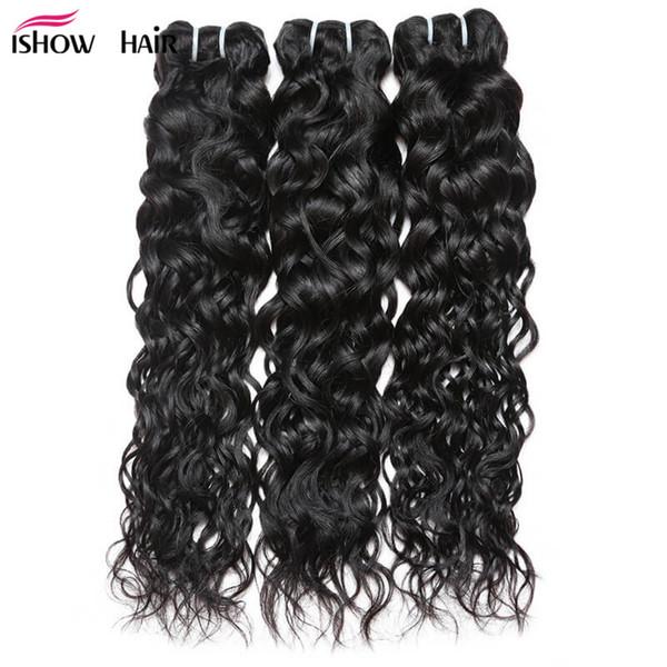 8-28inch Brazilian Water Wave Hair Bundles 3/4/5Pcs Wholesale Cheap Brazilian Hair Weave Bundles Free Shipping