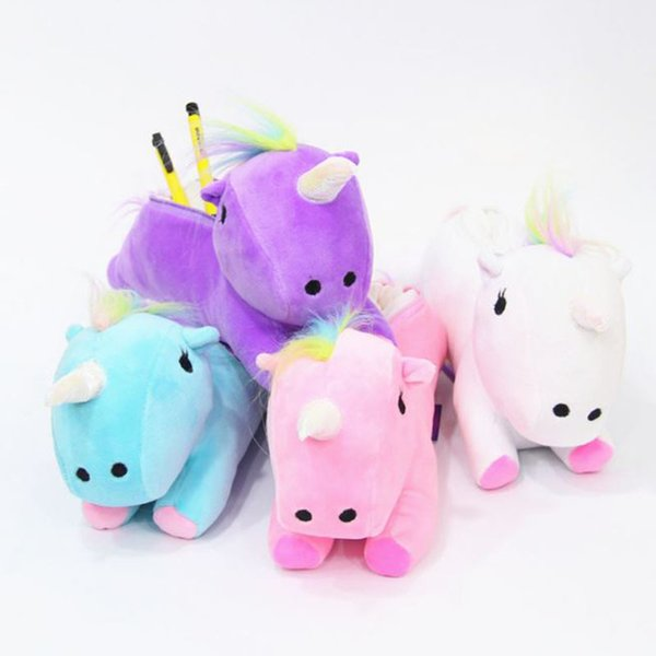 1 Pc Lovely Plush Unicorn Pencil Case School Supplies Stationery Gift Students Pencil Box Pencilcase Bag Pen Case