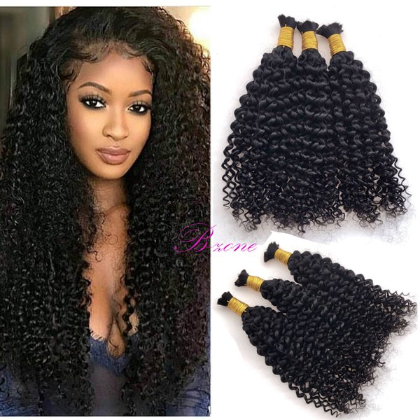 Best Selling Kinky Curly Human mini Braiding Hair No Weft 100% Unprocessed Brazilian Hair Bulk For Braiding