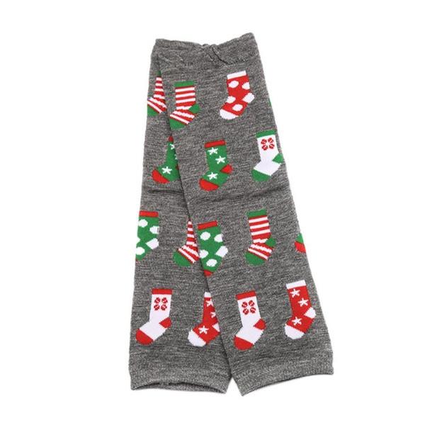 1 paire de jambières de coton de dessin animé chaussettes pour bébé bébé genouillères, hiver chaud jambières mignonnes chaussettes de Noël cadeaux pour les enfants