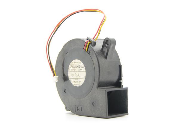 Spedizione gratuita per Toshiba SF6023RH12-52A Ventola ventilatore del server DC 12V 170mA, 60x60x25mm 3-wire Proiettore 3 pin TDP-EX20U