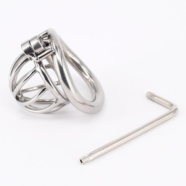 Super Small Stainless Steel Male Chastity Device Cock Cage Virginity Lock Penis Lock Cock Ring Chastity Belt