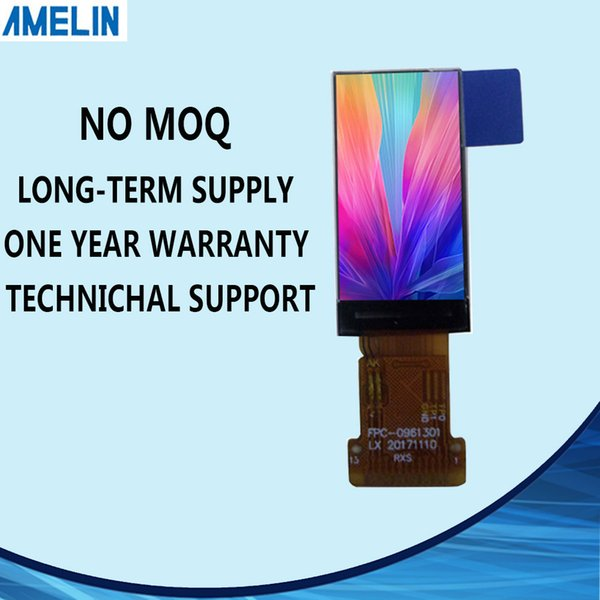 AML096A130 0.96 inch 80*160 tft lcd module screen with IPS viewing angle display and 4-SPI interface panel