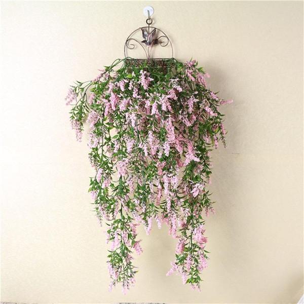 Lavanta Duvar Asılı Salonu Süsleme Simülasyon Bitki Yapay Çiçek Asın Sepet Plastik Çiçekler Sahte Ile Renkli 8 3yl ff