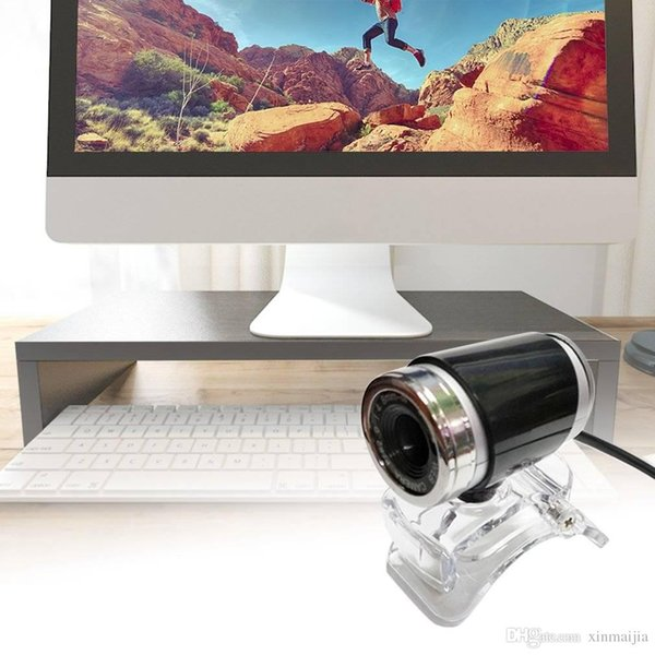 Black USB HD Webcam Web Cam Camera CMOS 360 Degree for Computer PC Laptop Desktop