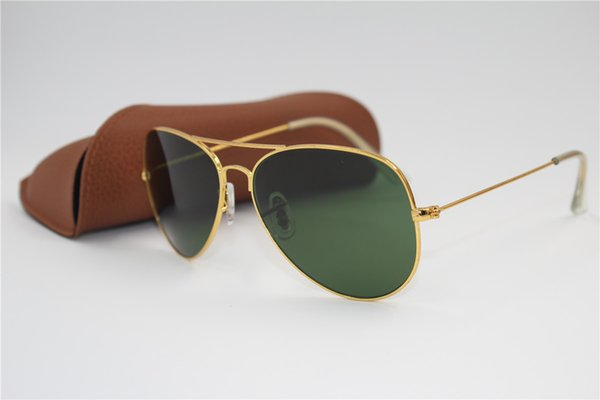 Best quality Brand Designer Fashion tpswrdpar Gold Frame Blue Mirror Sunglasses For Men and Women UV400 Sport Sun glasses With box