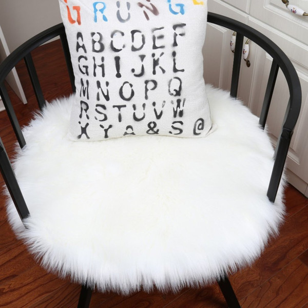 Plush Round Shape Carpet Throw Rug Anti