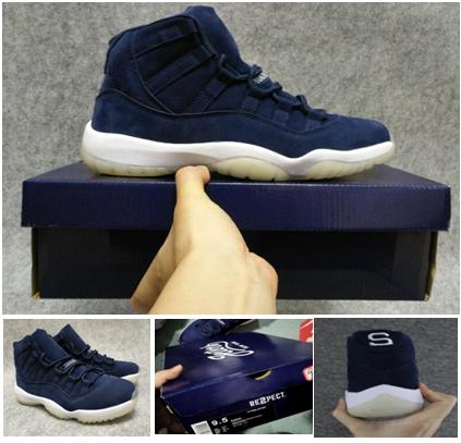 new style 2cc87 88911 2018 Wholesale High Quality Jeter 11s Sd Deerskin Prm Derek Re2pe Jeter  Blue Ct Basketball Shoes With Box Men From Liliking, $51.44 | Dhgate.Com