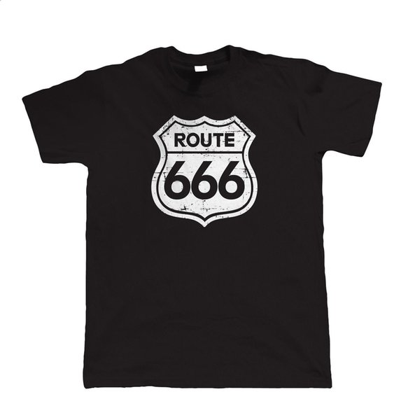 Route 666, Mens Funny Biker T Shirt, Classic Vintage Motorcycle Club