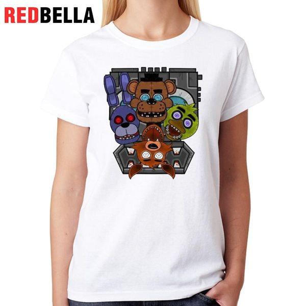 Women's Tee Redbella Clothes Women Bear Duck Dog Fox Cartoon Animal Cool Aesthetic T Shirt Print Womens Clothing Cotton Ladies Tops Tee Tees