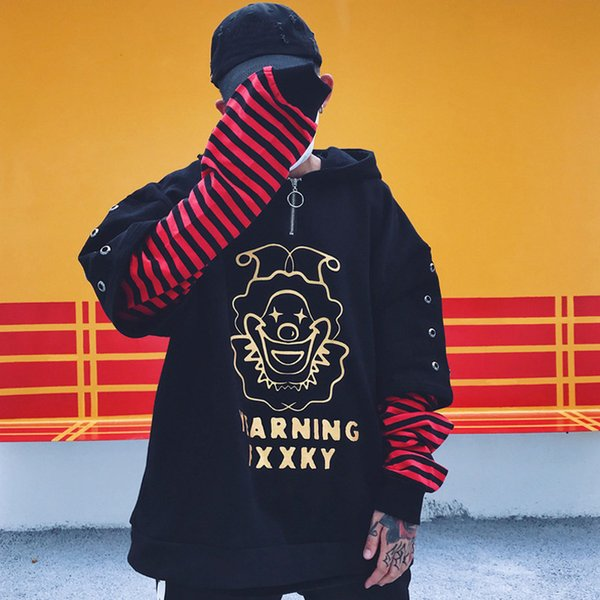 2018 Autumn Cotton Clown Oversize Sweatshirts Hip-hop Style Swag Tyga Hoodie Autumn Winter Hoodies US Size S-XL