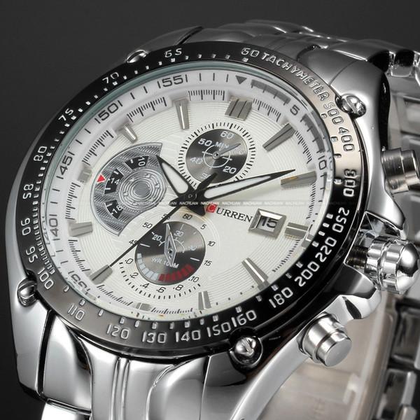 2016 Curren Dial Water Quartz Hours Date Silver Hand Sport Men Steel Wrist Watch top brand Mens watches Free shipping M926L