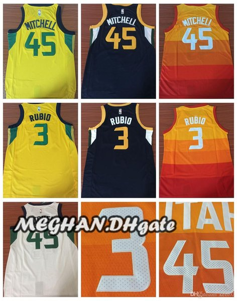 on sale 0b478 6ca74 2018 Utah Jazz Mitchell New City Edition Basketball 2018 Jerseys 5 Donovan  Mitchell Jerseys 3 Ricky Rubio 27 Rudy Gobert Stitched Jerseys From ...