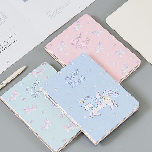 Acheter Mignon Kawaii Animal Dessin Animé Licorne Blanc Kraft Papier Peinture Dessin Notdiary Bloc Notes Papeterie Fournitures Scolaires De Bureau De