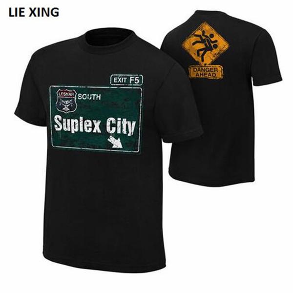 Fashion Short Sleeve Wrestling Brock 2018 New Superstar F5 Beast Seth AJ Lesnar Suplex City Rollins Punk Styles Men's T-Shirt
