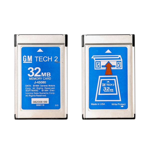 best selling Newly GM Tech2 Card With 6 Soft-ware 32MB Card FOR GM TECH2,Holden Opel GM  SAAB ISUZU Suzuki 3