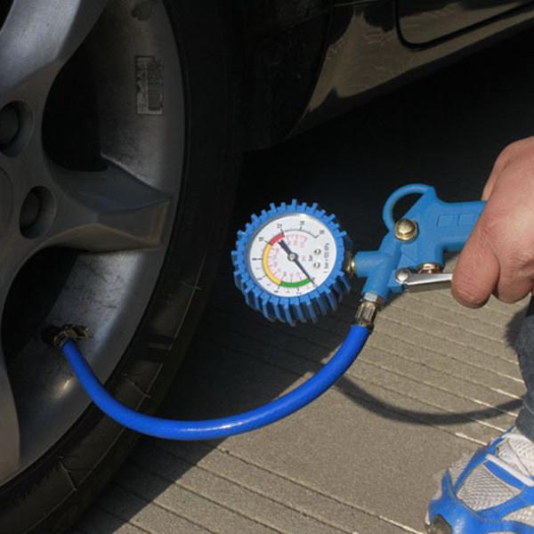 Multi-fonctionnel Voiture Camion Air Pneu Pression Gonfleur Jauge Dial Meter Véhicule Testeur Pneu Inflation Gun Outil De Surveillance